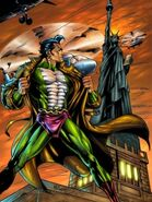 Nagraj in WTS near Statue of Liberty