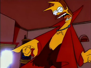 Devil Flanders Turns Homer's Head into a Donut