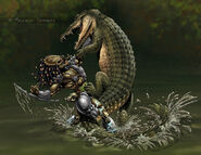 Predator vs croc colours by malsem-d6sufoo