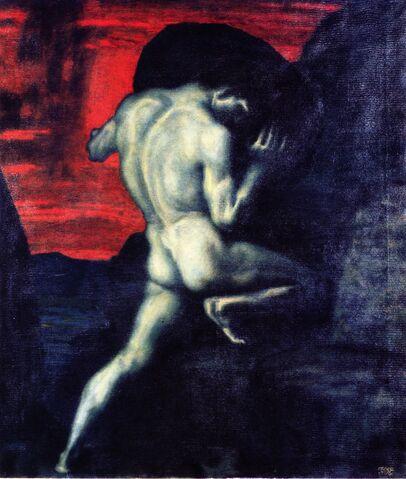 File:Sisyphus Franz von Stuck painting.jpg