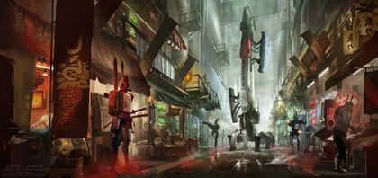 Cyberpunk market patrol by dsorokin755-d74y88q