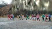 Dimensional wall - Gekiranger, Go-Onger, Gorenger, Goseiger, Shinkenger