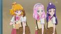 Mayumi hides behind Mirai as crush walks past