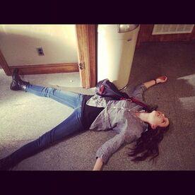 Troian on the floor