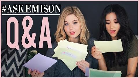 Emison Q&A Pt. 1 with Sasha Pieterse! Shay Mitchell