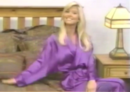 Teri Harrison in Satin Sleepwear-12