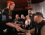 Undertaker with a fan