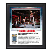 John Cena and Enzo & Big Cass Battleground 2016 15 x 17 Commemorative Framed Plaque w Ring Canvas