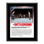 Dean Ambrose Battleground 2016 10 x 13 Commemorative Photo Plaque