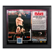 Finn Bálor Raw Debut 2016 15 x 17 Commemorative Framed Plaque w Ring Canvas