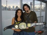Mandy Weaver - with a title belt