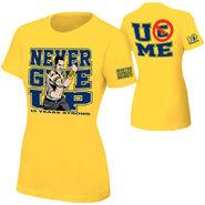 John Cena Gold 10 Years Strong Authentic women's T-Shirt