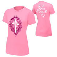 Sheamus Rise Above Cancer Pink Authentic women T-Shirt