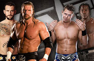 HHH and Punk v Awesome Truth