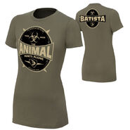 Batista The Animal Hunts Alone Women's Authentic T-Shirt