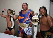 Ddt-6man-Sanshiro Takagi, Toru Owashi & Akebono