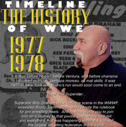 Timeline History of WWE - 1977 1978 Billy Graham
