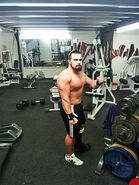 Joe Coffey training at the gym