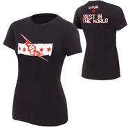 CM Punk Best In The World Black Version Women's Authentic T-Shirt