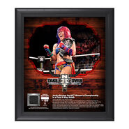 Asuka NXT TakeOver San Antonio 15 x 17 Framed Plaque w Ring Canvas