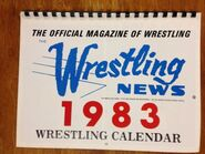 The Wrestling News 1983 Wrestling Calendar