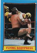 1987 WWF Wrestling Cards (Topps) Flying Bodypress (No.47)