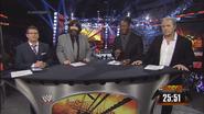Josh Mathews, Mick Foley, Booker T & Bret Hart - WWE Survivor Series 2013 panelist team