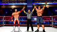 JimmyKorderas+SinCara+JohnCena in WrestleMania Mystery