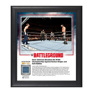 Dean Ambrose Battleground 2016 15 x 17 Framed Plaque w Ring Canvas