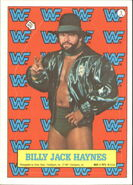 1987 WWF Wrestling Cards (Topps) Sticker Billy Jack Haynes 5