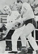 Jack Dempsey in action