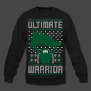 Ultimate Warrior 2016 Limited Edition Ugly Black Christmas Sweater