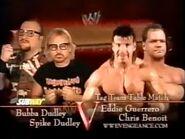 Bubba Dudley Spike Dudley vs Chris Benoit Eddie Guerrero