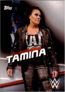2016 WWE Divas Revolution Wrestling (Topps) Tamina 36