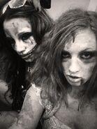 Sasha Banks and Becky Lynch 2013 NXT Halloween