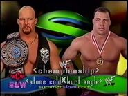 Stone Cold vs Kurt Angle