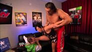 Stretching with Great Khali & Hornswoggle