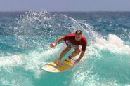 Surfing in Hawaii (retouched)