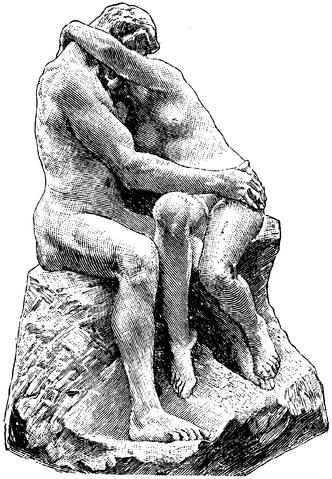 File:Bildhuggarkonst, Kyssen, af Rodin, Nordisk familjebok.png