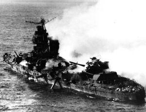 Sinking of japanese cruiser Mikuma 6 june 1942