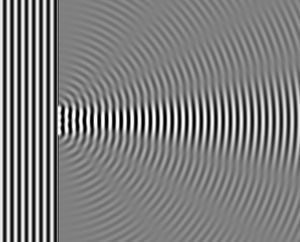 File:Wave Diffraction 4Lambda Slit.png