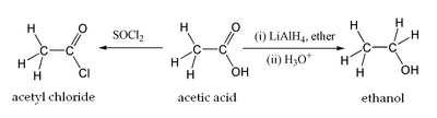 Acetic acid organic reactions