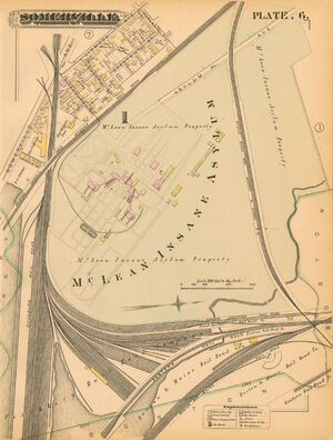 Somerville Mclean asylum map 1884