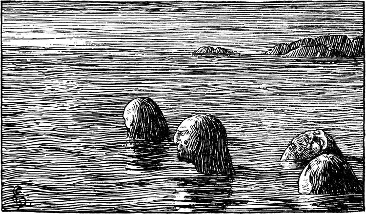 Olav Tryggvasons saga - Seidemennene paa Skrattskjaer - H. Egedius