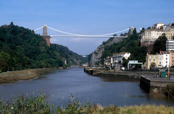 Clifton suspension bridge from hotwells 600