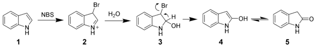 File:Indole NBS Oxidation.png