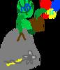 Plantlanders Jack-in-the-Boxwood figure