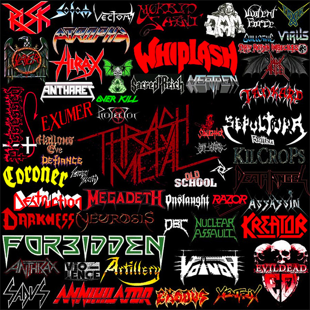 The Beauty and Total Illegibility of Extreme Metal Logos ... |Thrash Metal Band Logos