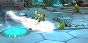 Ratchet destroys cleaner bot
