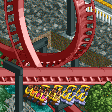 4-Across Inverted Roller Coaster RCT2 Icon